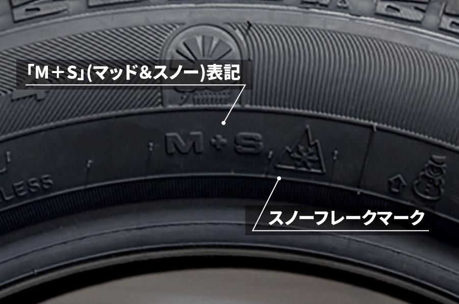 M+S(マッド&スノー)表記とスノーフレークマークのサンプル画像